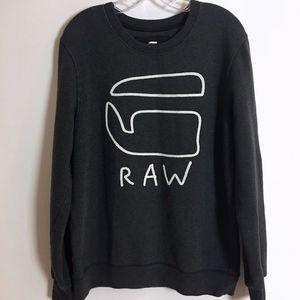 G Star Raw crew neck sweatshirt black mens size L